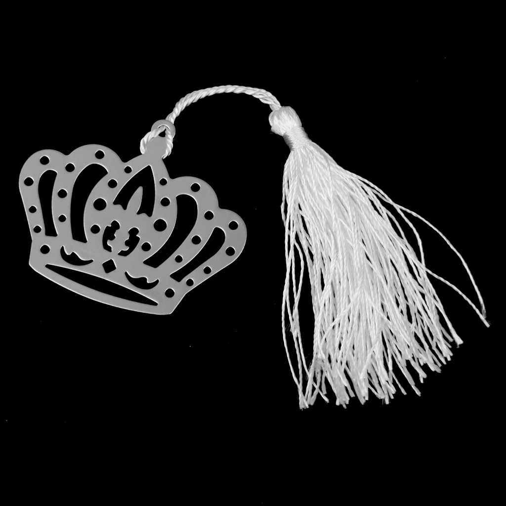 Set Of Crown Shaped Bookmark Label With Tassels Stationary Wedding Party Supplies Ceremony Gift