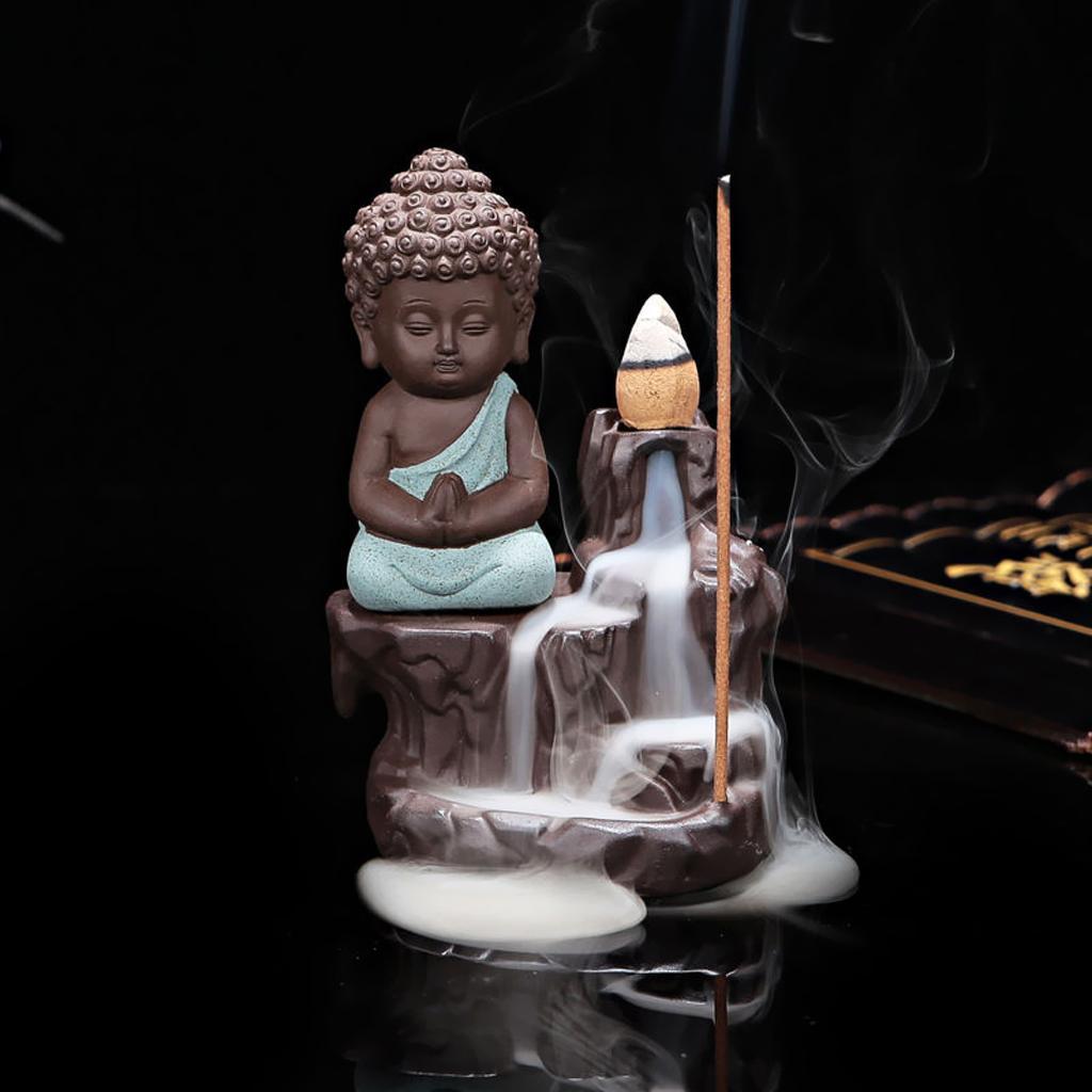 Redware Backflow Censer Incense Burner Aromatherapy+ 70 Mix Incense Cone