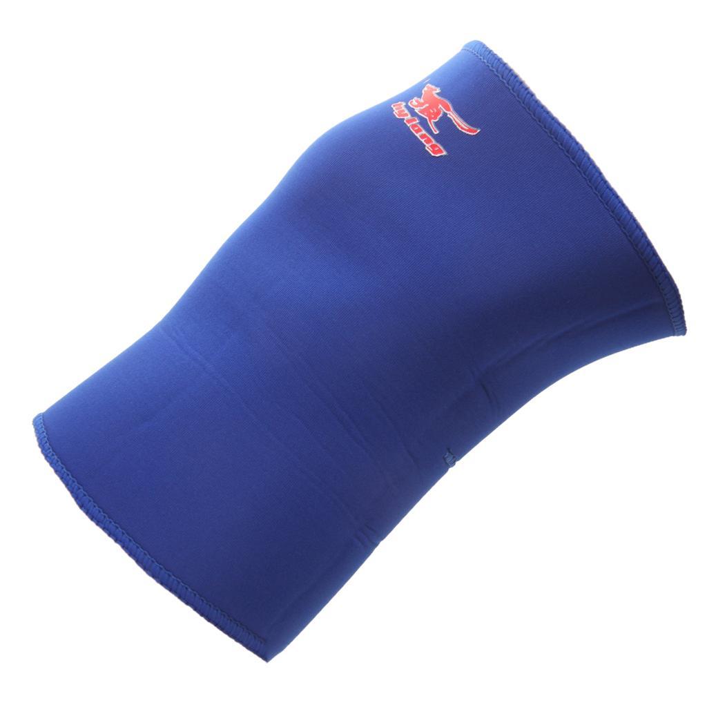 Elastic Sports Leg Knee Pads Support Strap Brace Wrap Protector Kneepads Sleeve Cap - Blue