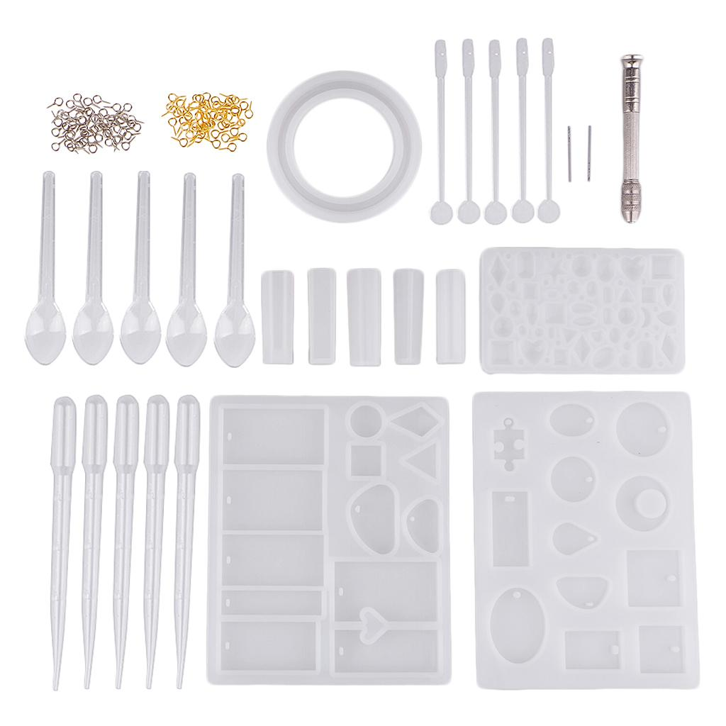Multifunction Resin Clay Molding DIY Kits for Jewelry Making Bracelets Bangles Pendants Silicone