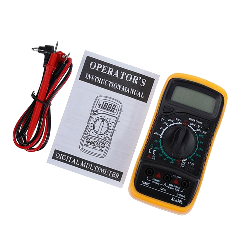 XL830L Digital Multimeter LCD Display with DC Current, AC/DC Voltage, Resistance and Diode Tester