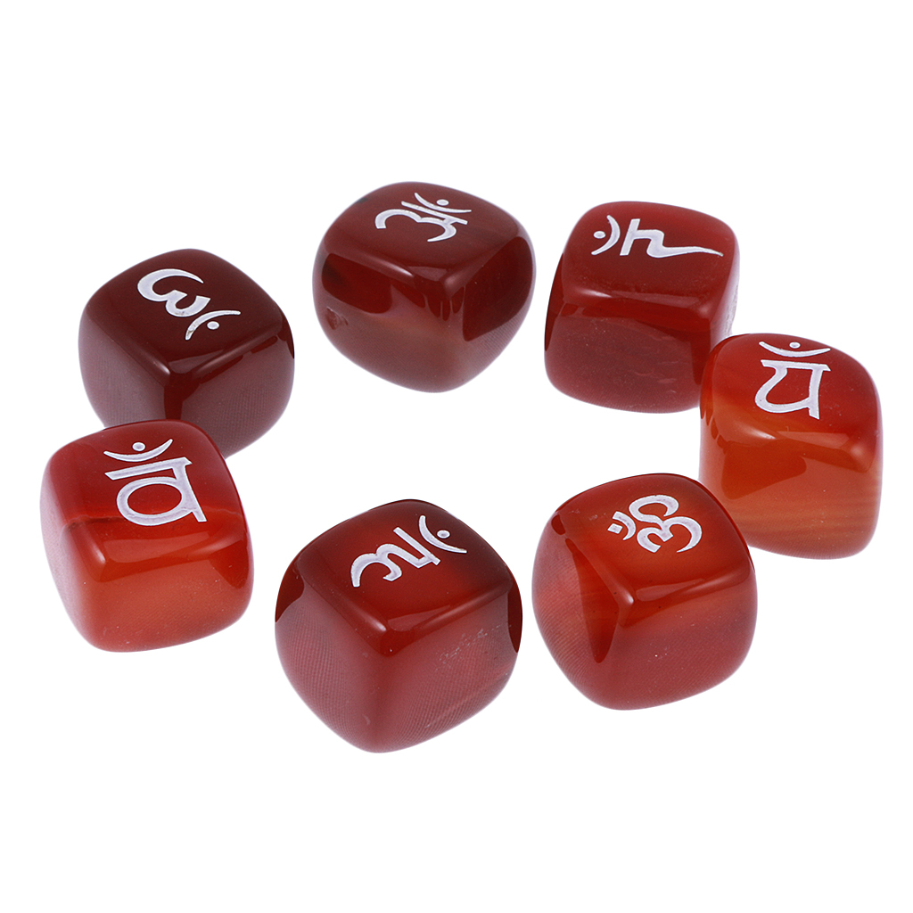 Bafulia India | Dropshipping 7pcs Engraved Red Agate Reiki