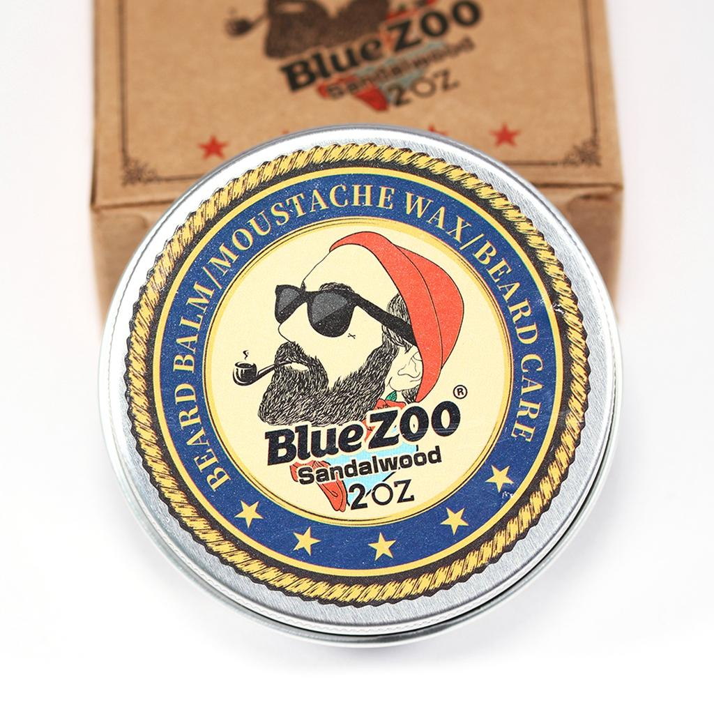 Men Beard Styles, Strengthens & Softens Beards & Mustaches Wax, Leave-In Conditioner, Moisturizing - Sandalwood