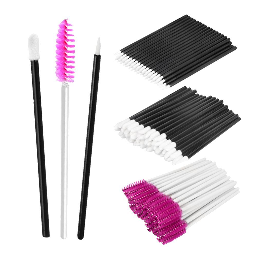 150pcs Disposable Makeup Brushes Tool Eyeliner Lip Eyelash Mascara Wands Applicator Accessories