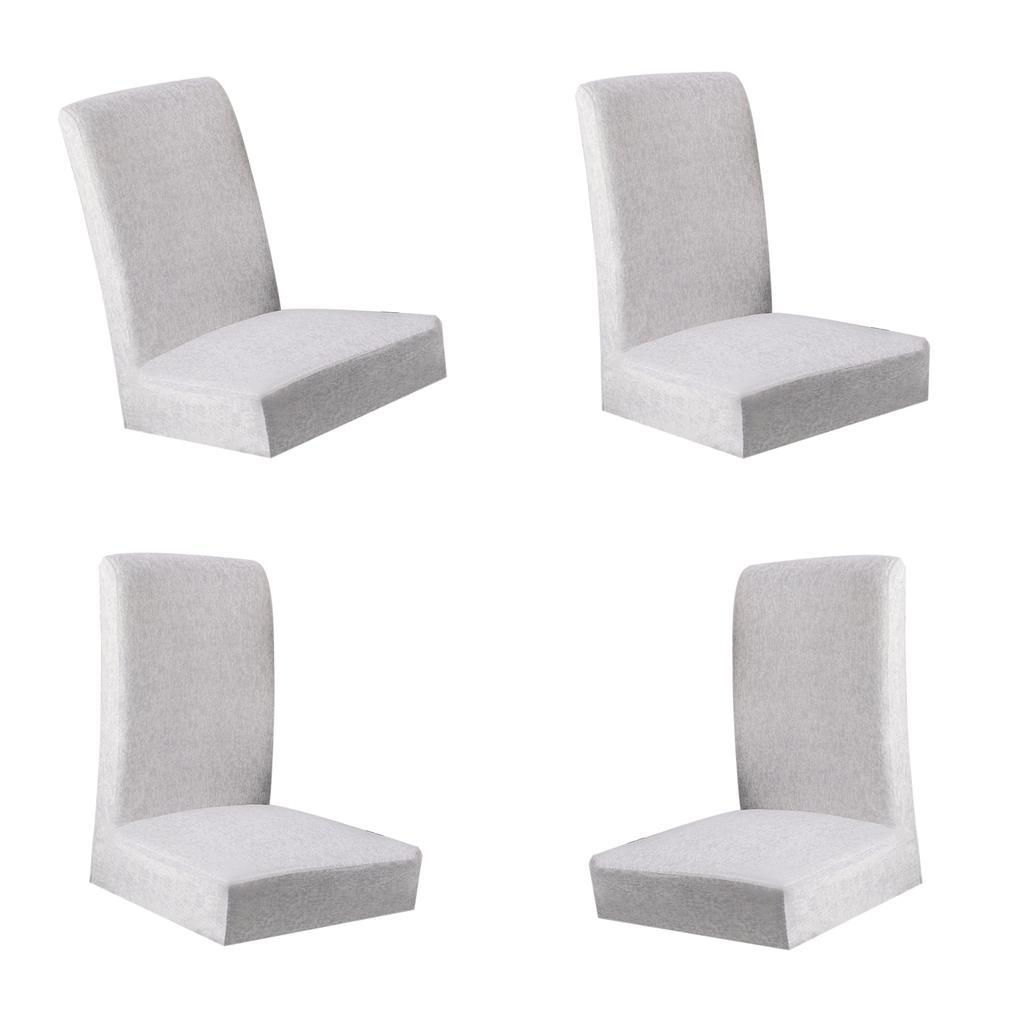 4Pcs cubierta de la silla para hotel, el restaurante, hogar, sala de decoración boda/gris claro