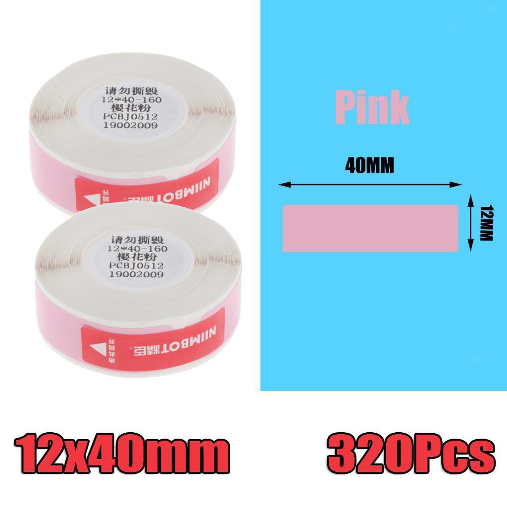 miniatura 13 - 2x etichette adesive per etichette per stampante termica Niimbot D11 Pure Color