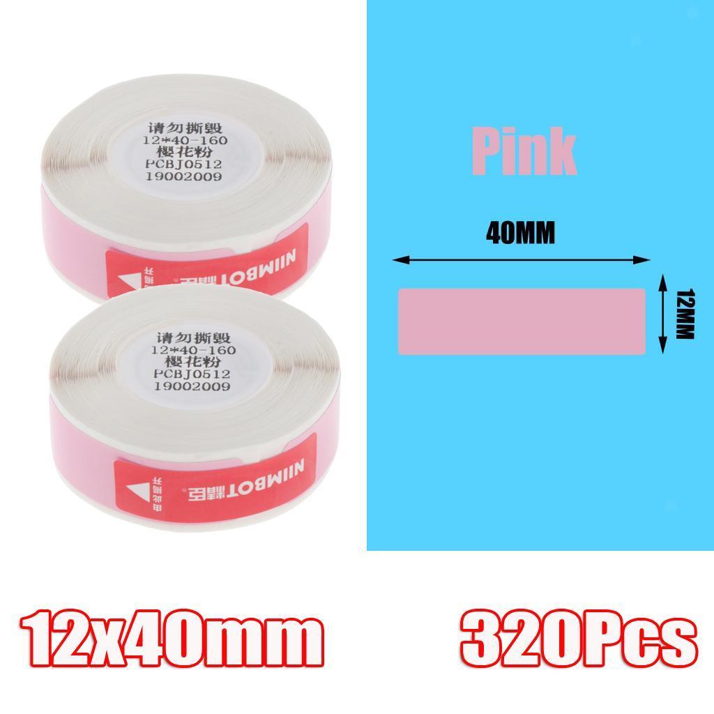 miniatura 12 - 2x etichette adesive per etichette per stampante termica Niimbot D11 Pure Color