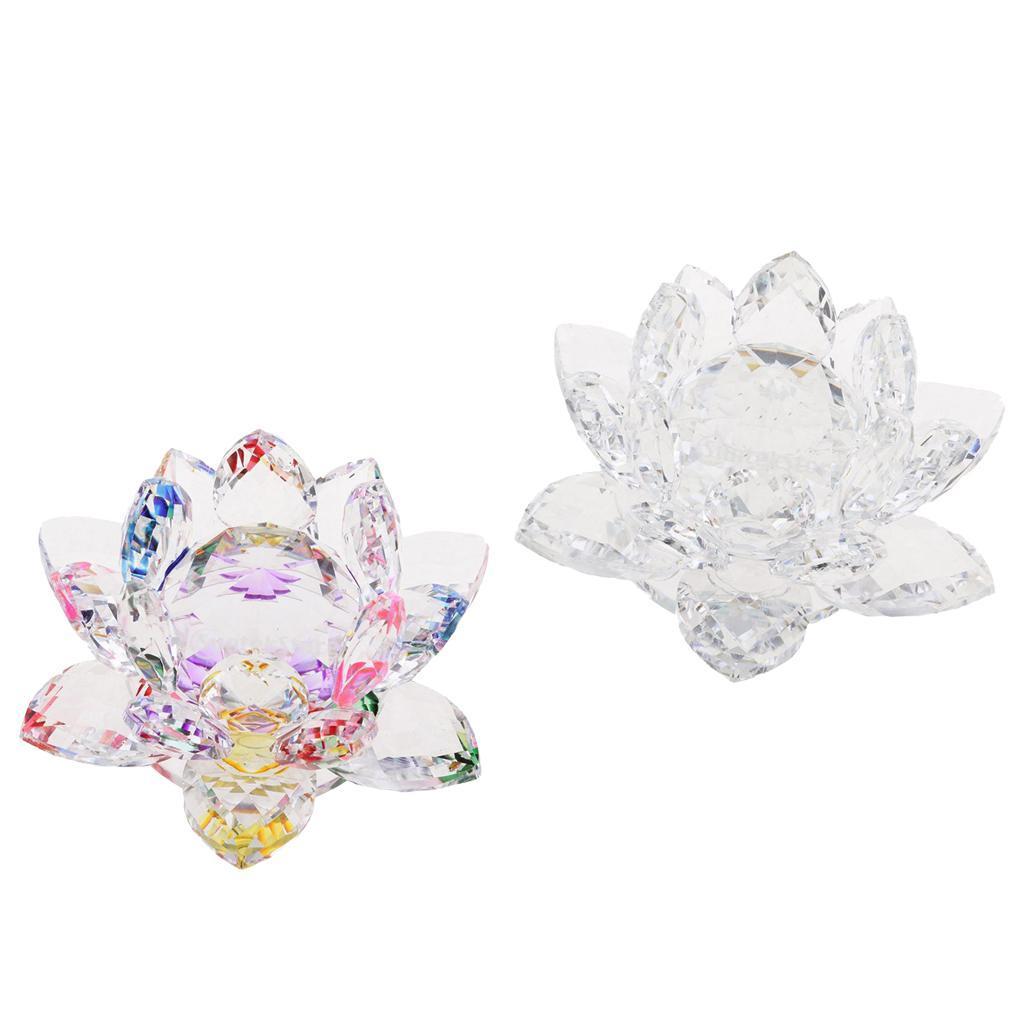 Ornameto-In-Cristallo-Stilo-Fiore-Loto-Feng-Shui-Arredamento-Interno miniatura 10