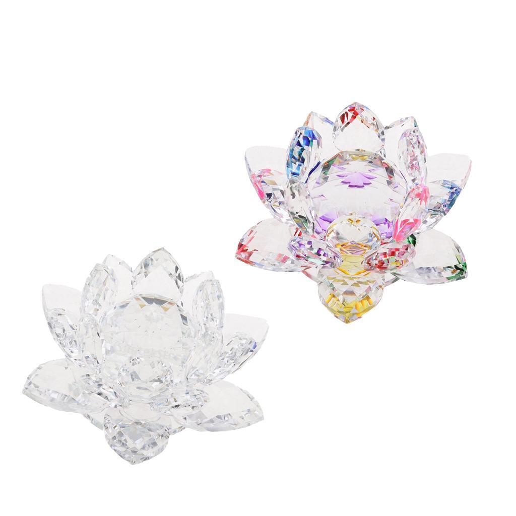 Ornameto-In-Cristallo-Stilo-Fiore-Loto-Feng-Shui-Arredamento-Interno miniatura 11