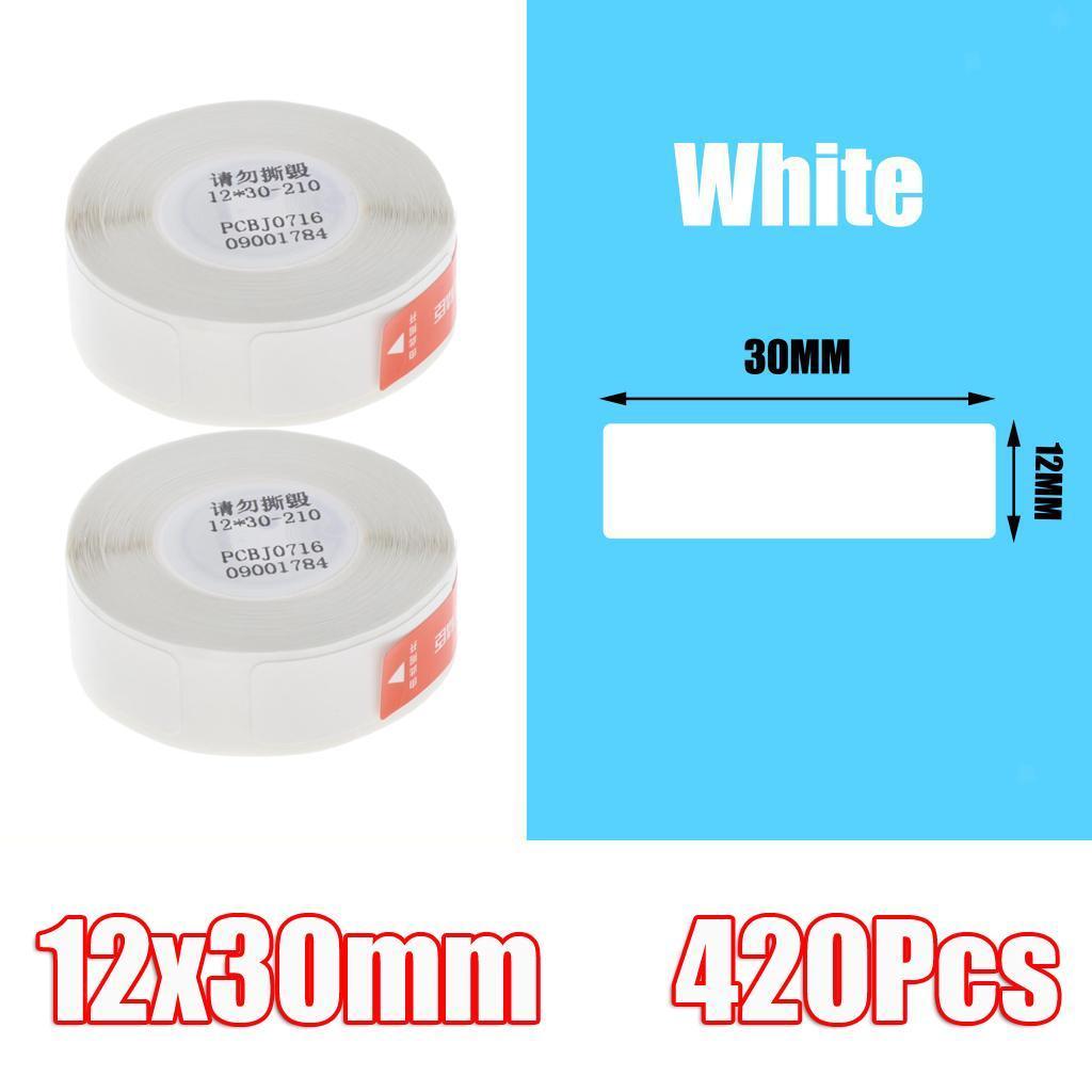 miniatura 3 - 2x etichette adesive per etichette per stampante termica Niimbot D11 Pure Color