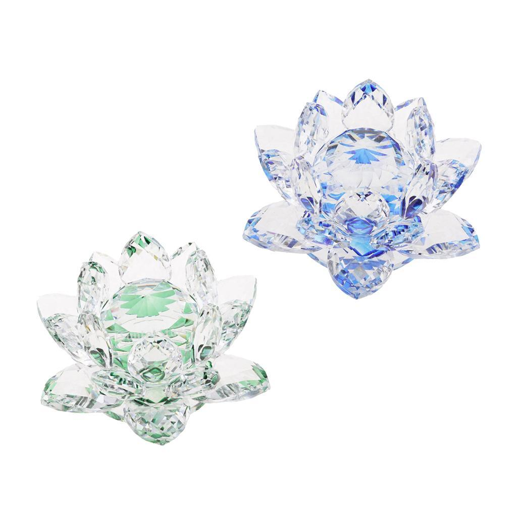 Ornameto-In-Cristallo-Stilo-Fiore-Loto-Feng-Shui-Arredamento-Interno miniatura 14
