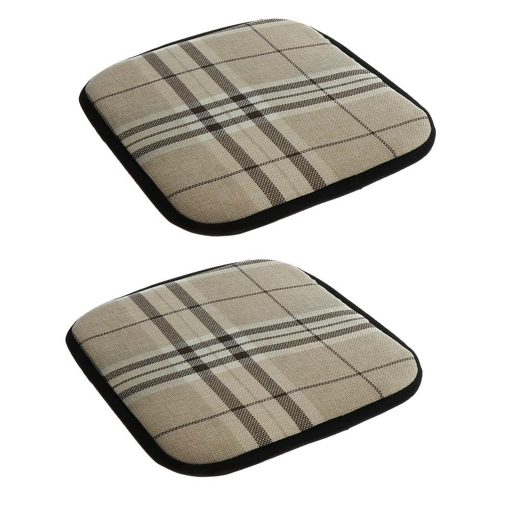 2 Stück Dickes Anti Rutsch Bürostuhlkissen Esszimmerstuhl Sitzauflage Quadrat