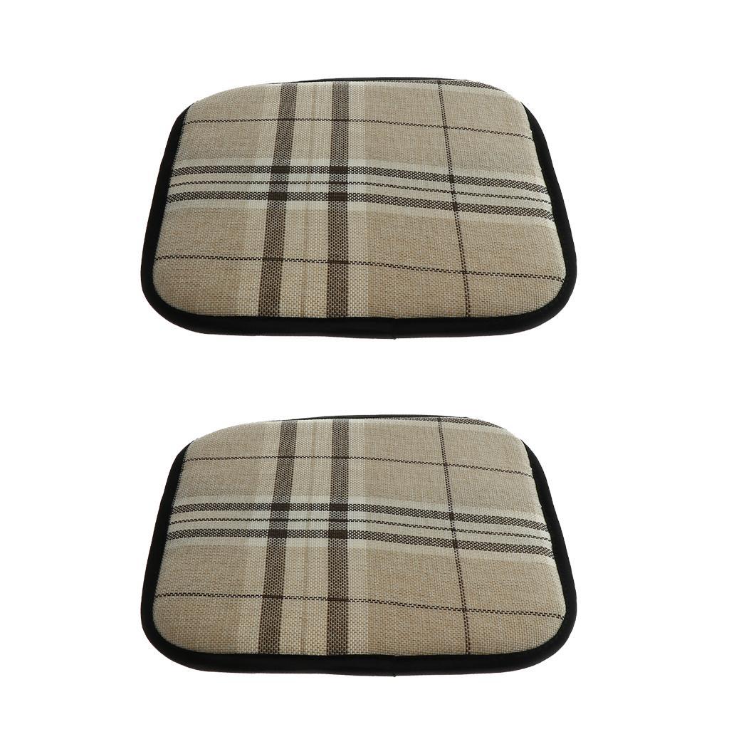 Packung mit 2 Rutschfesten Stuhlkissen Sitzkissen, Baumwollmaterial,