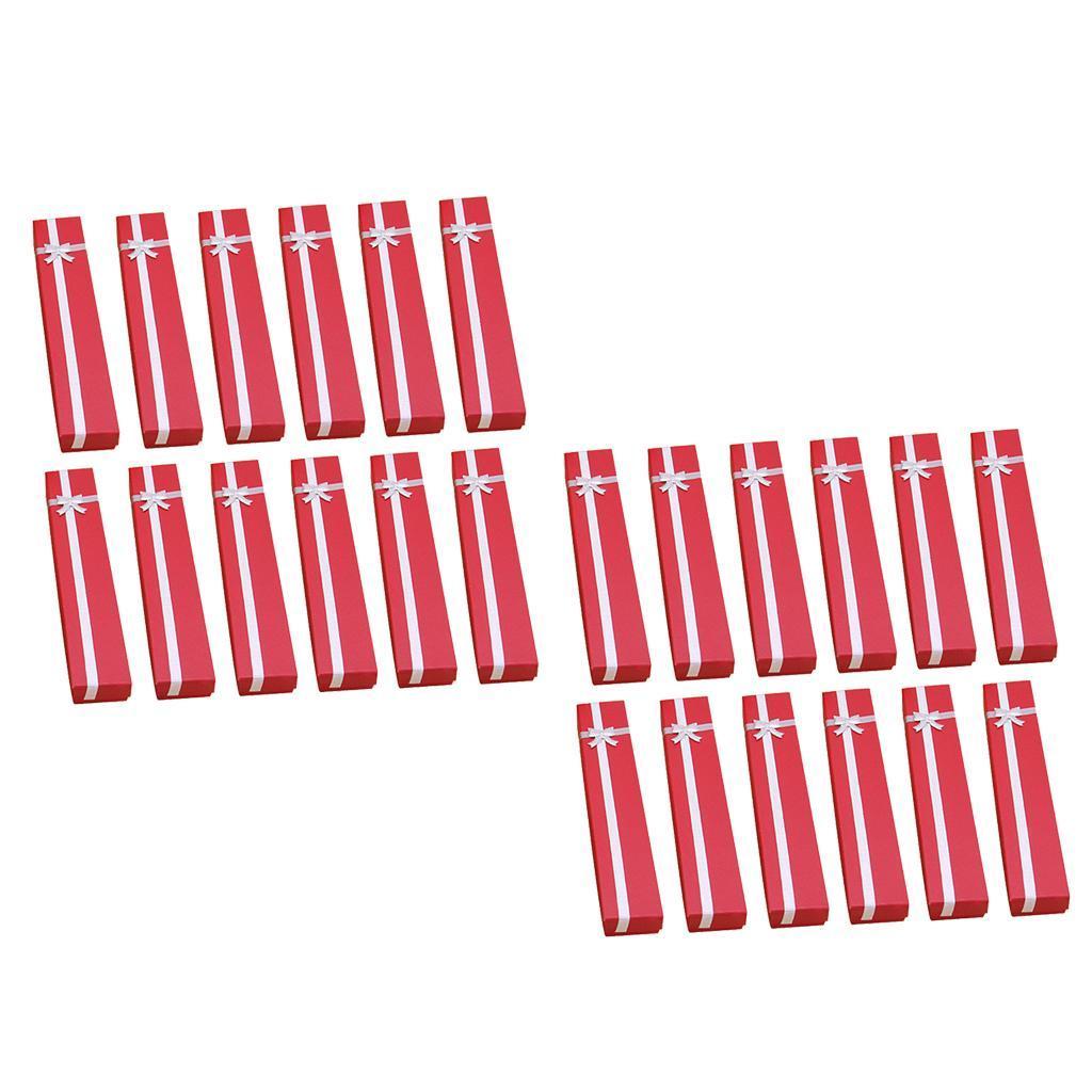 Wholesale-24pcs-Bowknot-Jewelry-Box-Necklace-Paper-Box-Birthday-Present-Gift-Box thumbnail 2