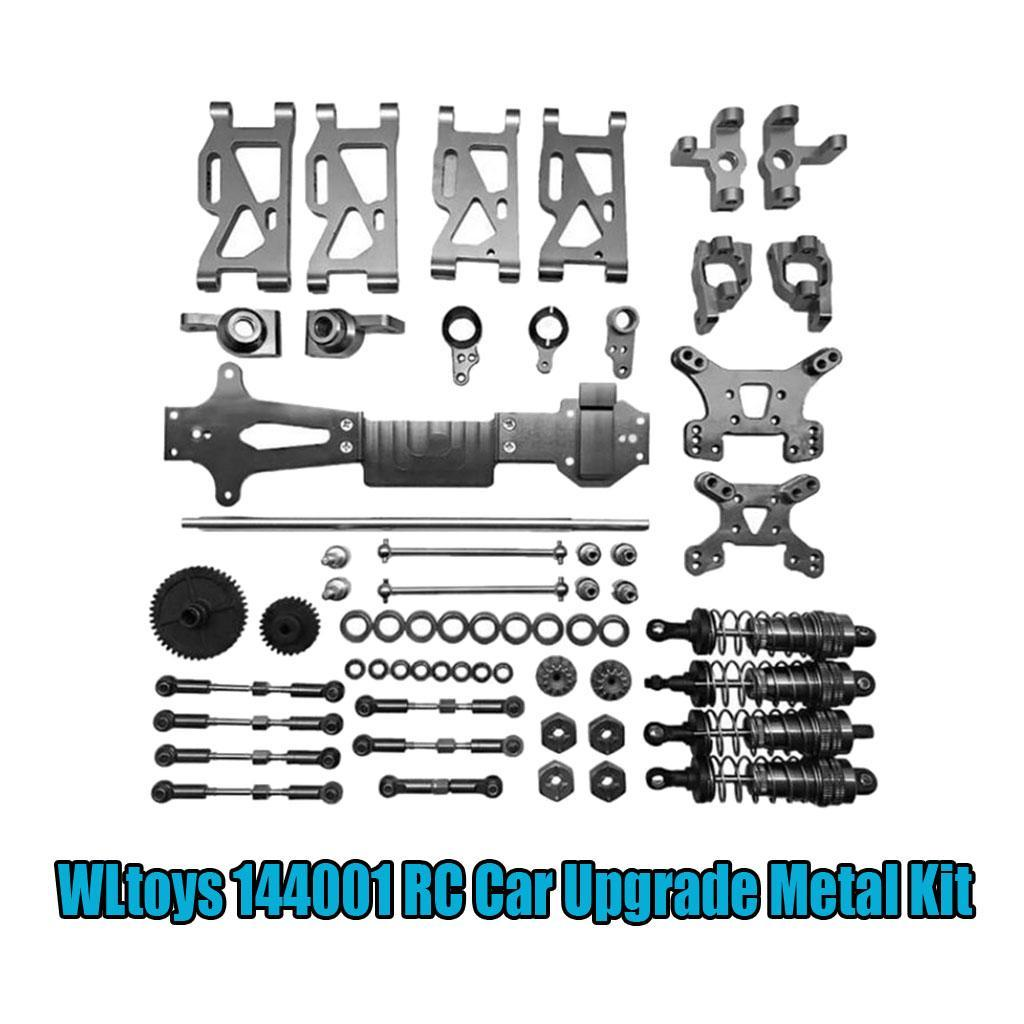 1//14 WLtoys 144001 RC Car Upgrade Metal Kit Gears Shock Absorber Accessories