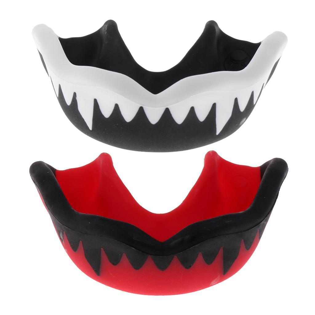 Indexbild 8 - Set of 2 EVA Mouthguard Hockey Gum Shield MMA Guard Teeth Proctor with Case