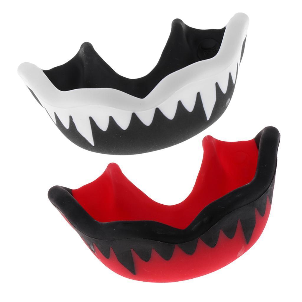 Indexbild 2 - Set of 2 EVA Mouthguard Hockey Gum Shield MMA Guard Teeth Proctor with Case