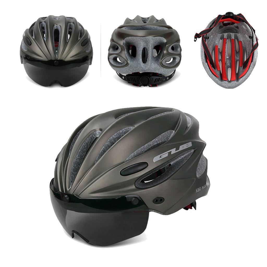 Indexbild 3 - Erwachsene-Fahrradhelm-MTB-Mountainbike-Helm-mit-Visier-Scooter-Helm-Radhelm