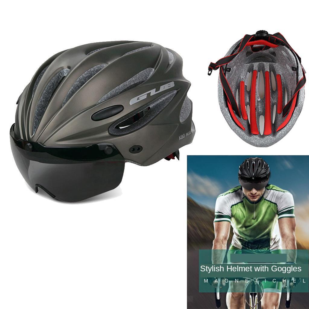 Indexbild 4 - Erwachsene-Fahrradhelm-MTB-Mountainbike-Helm-mit-Visier-Scooter-Helm-Radhelm