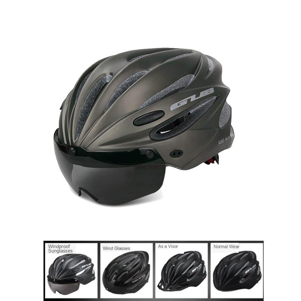 Indexbild 5 - Erwachsene-Fahrradhelm-MTB-Mountainbike-Helm-mit-Visier-Scooter-Helm-Radhelm