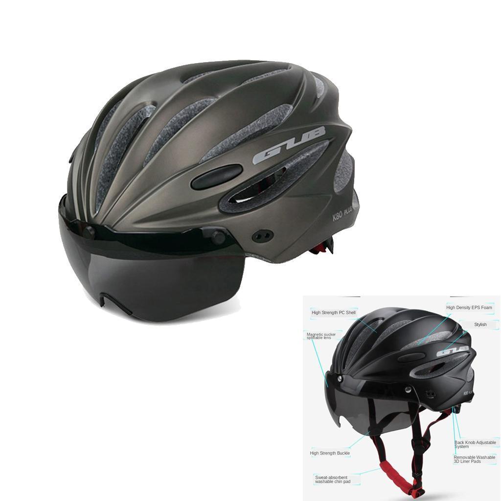 Indexbild 6 - Erwachsene-Fahrradhelm-MTB-Mountainbike-Helm-mit-Visier-Scooter-Helm-Radhelm