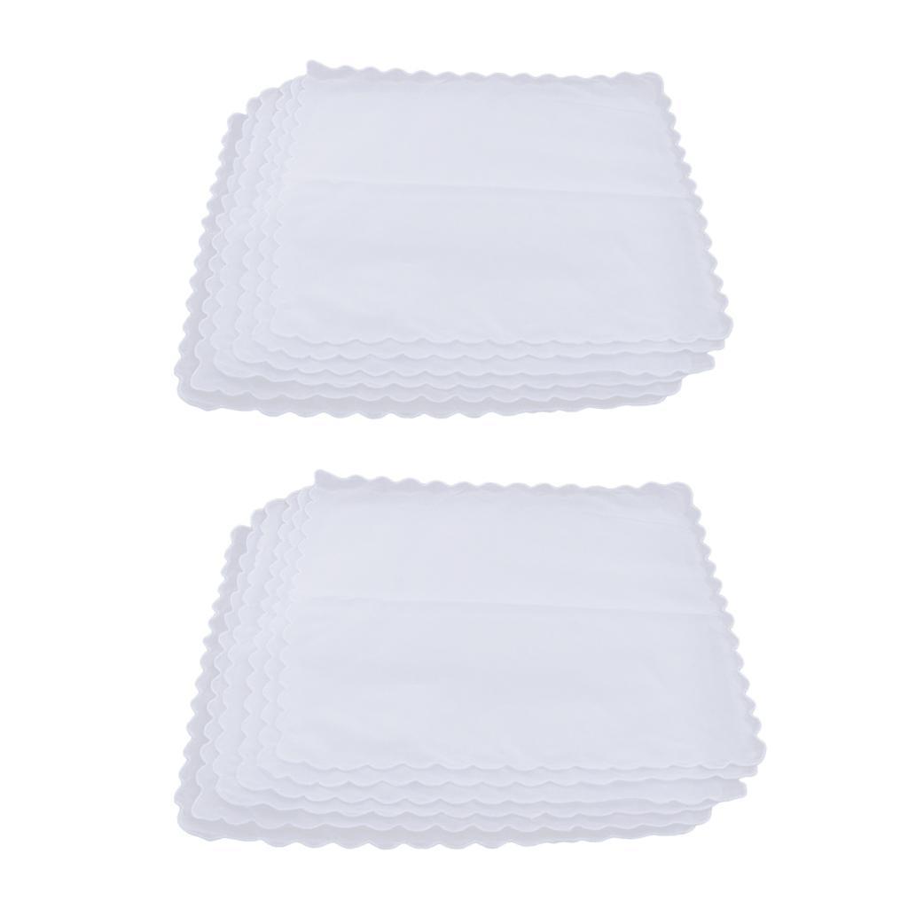 12pack Comfy Cotton Plain White Hankie Ladies Handkerchiefs DIY Square Hanky