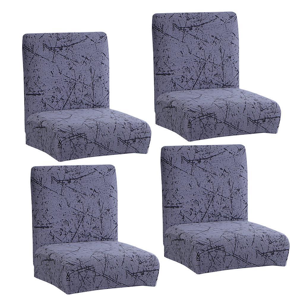 miniature 9 - Housse De Chaise Courte à Dossier Bas, Hauteur De Comptoir, Tabouret B_Gray