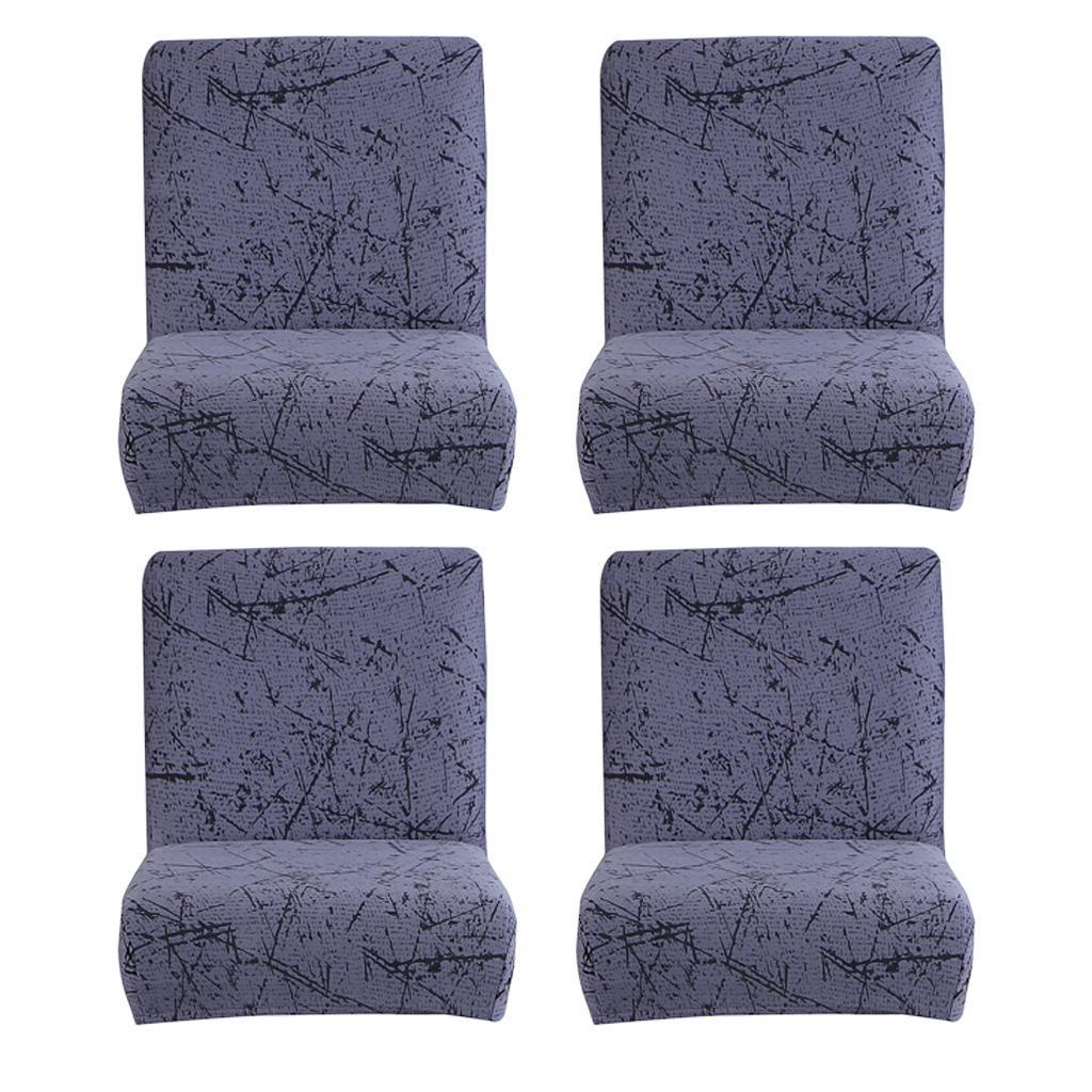 miniature 5 - Housse De Chaise Courte à Dossier Bas, Hauteur De Comptoir, Tabouret B_Gray