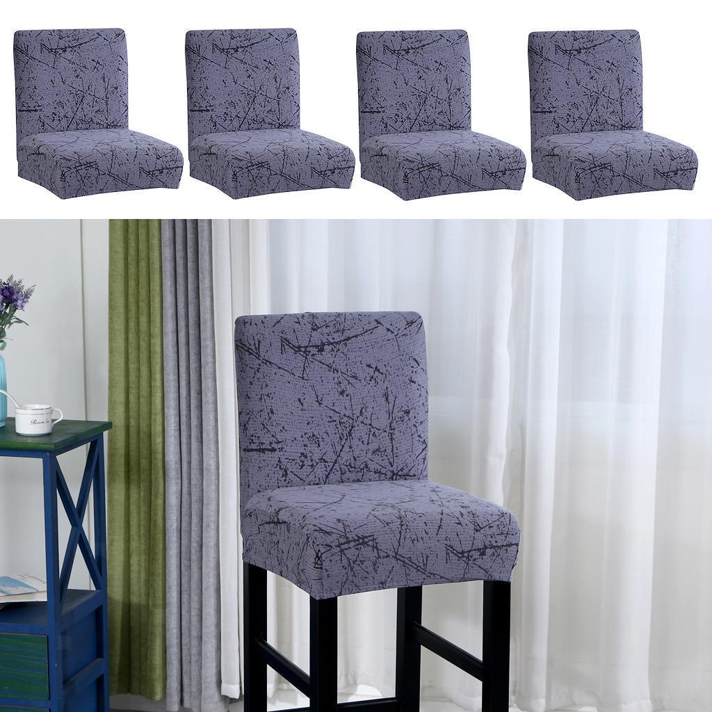 miniature 7 - Housse De Chaise Courte à Dossier Bas, Hauteur De Comptoir, Tabouret B_Gray
