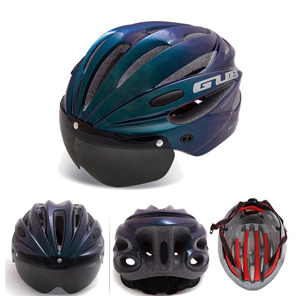 Indexbild 9 - Erwachsene-Fahrradhelm-MTB-Mountainbike-Helm-mit-Visier-Scooter-Helm-Radhelm