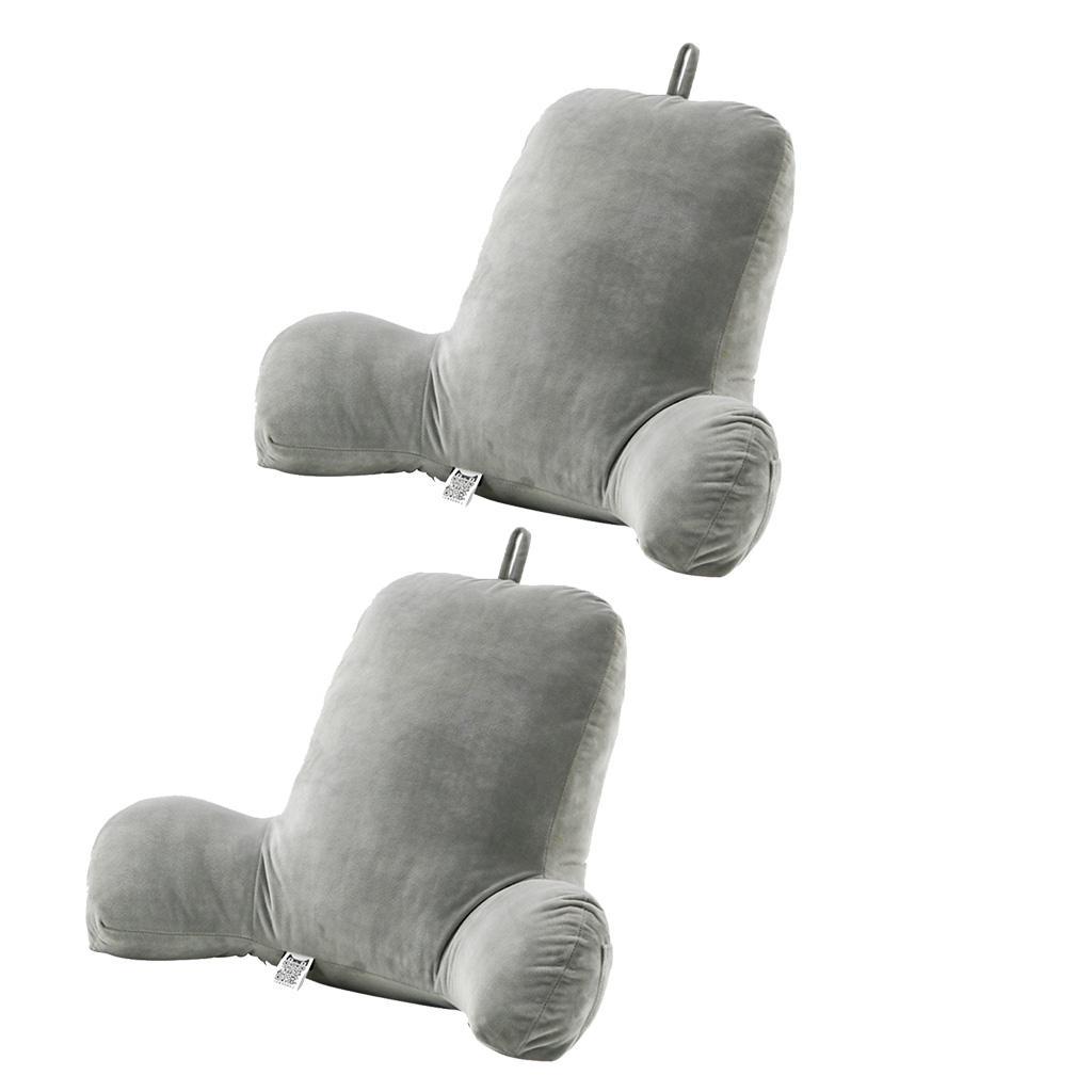 2 Stück Samt Lese kissen Super Weiches Bett Sofa Taille Kissen für Relax
