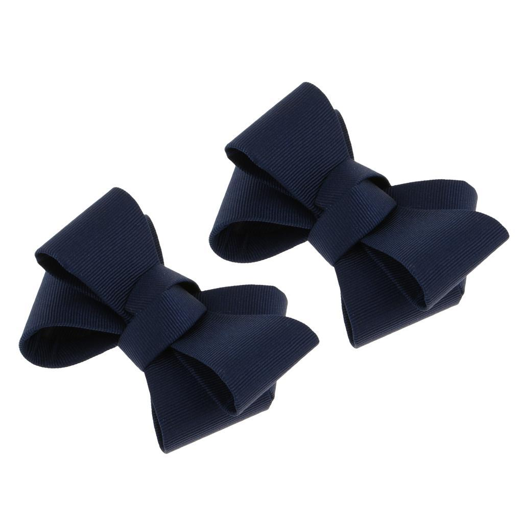2Pack Ribbon Bow Shoe Clips High Heel Shoes Buckle Clip Shoe Charms Accessories