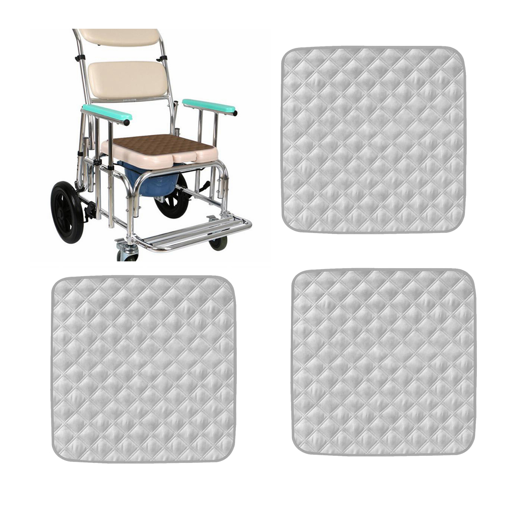 3pcs graues saugfähiges und wasch bares Stuhl Schutz kissen beständig