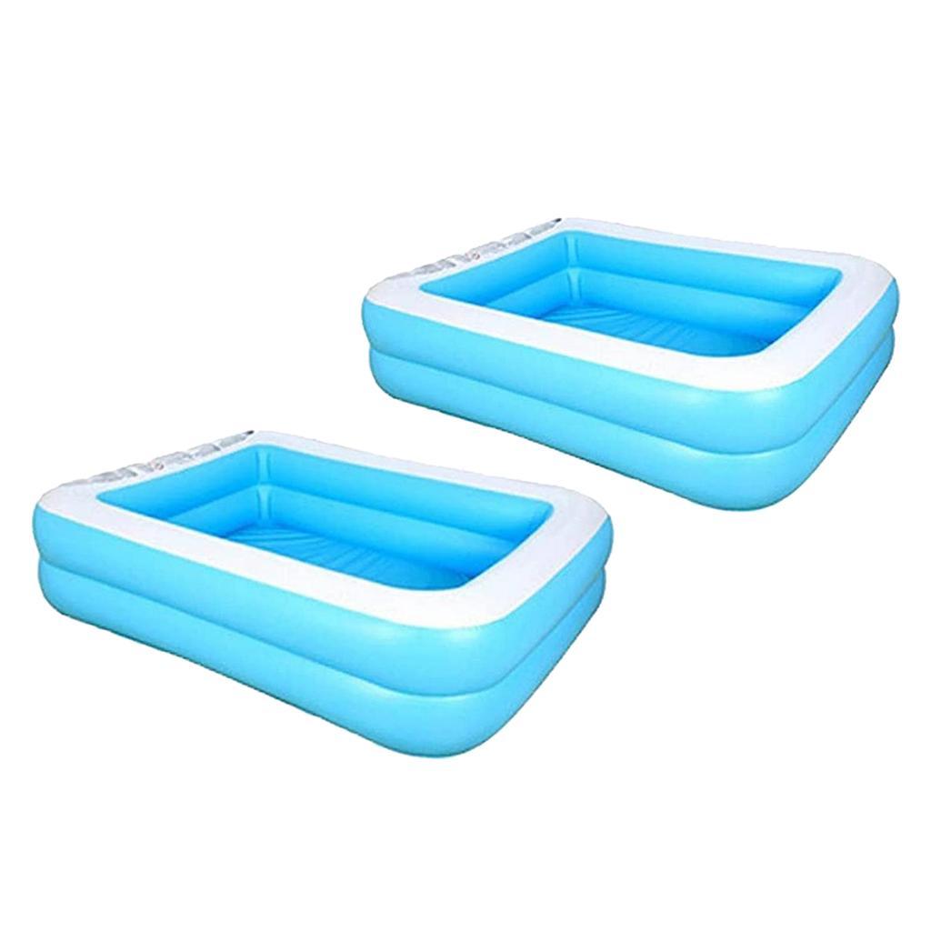 2x 110/128cm Swim Center Family Backyard Inflatable Kiddie Swimming Pool Bathtub