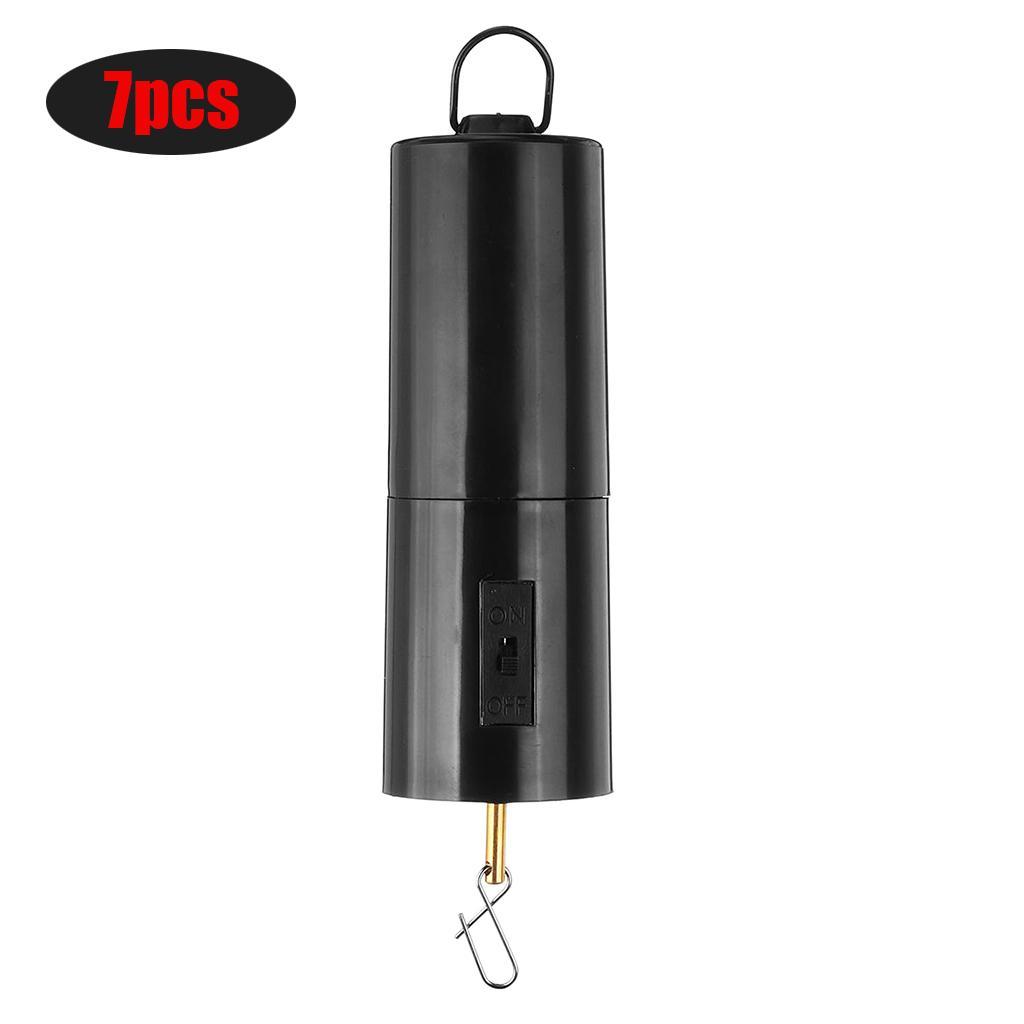 7x Wind Spinner Black Display Rotating Motor 30RPM for Hanging Decor Black