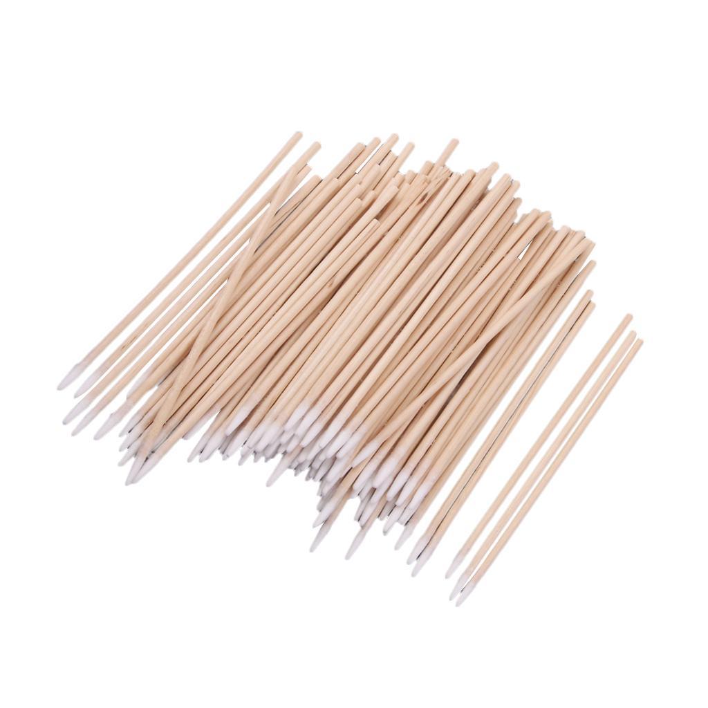200 Stück Wattestäbchenapplikator Tupfer Holz Robustes Reinigungs Make Up