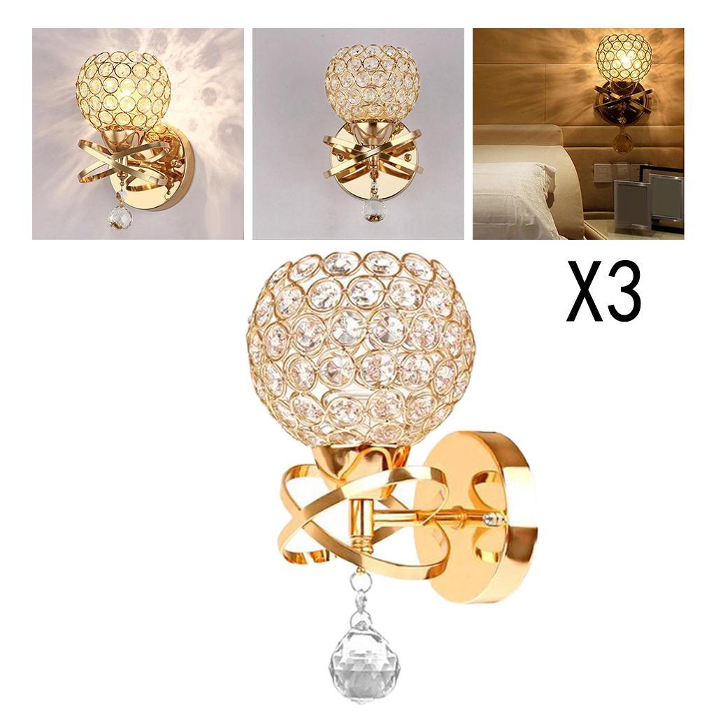 Set aus 2/3 Moderne Kristall Wandleuchte Nachttischbeleuchtung ohne Glühbirne