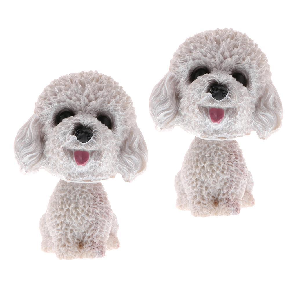 2pcs-Car-Auto-Interior-Doll-Ornaments-Nodding-Shaking-Head-Dog-Puppy-Model-Toys thumbnail 3