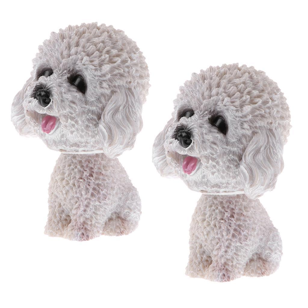 2pcs-Car-Auto-Interior-Doll-Ornaments-Nodding-Shaking-Head-Dog-Puppy-Model-Toys thumbnail 4