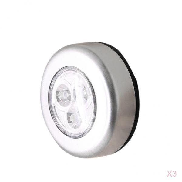 3PC LED Wireless Stick auf Push Light Batteriebetriebenes Touch Licht für