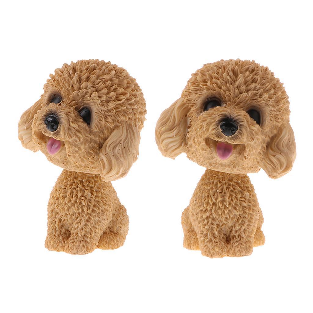 2pcs-Car-Auto-Interior-Doll-Ornaments-Nodding-Shaking-Head-Dog-Puppy-Model-Toys thumbnail 7