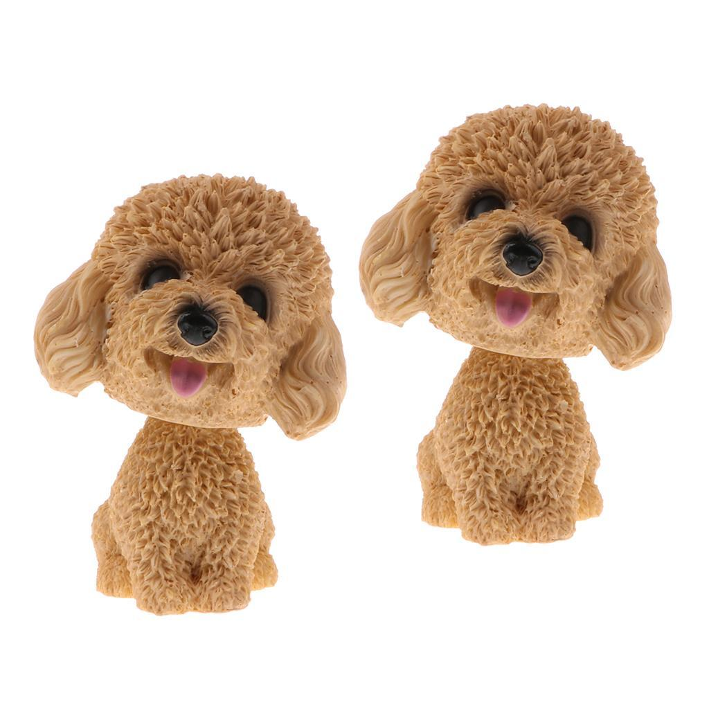 2pcs-Car-Auto-Interior-Doll-Ornaments-Nodding-Shaking-Head-Dog-Puppy-Model-Toys thumbnail 8