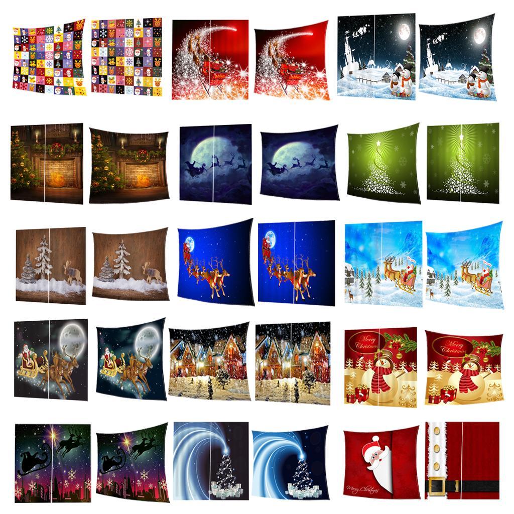 Weihnachtsthemen Polyester Decke mit Wohnzimmer Vorhang und andere Dekor