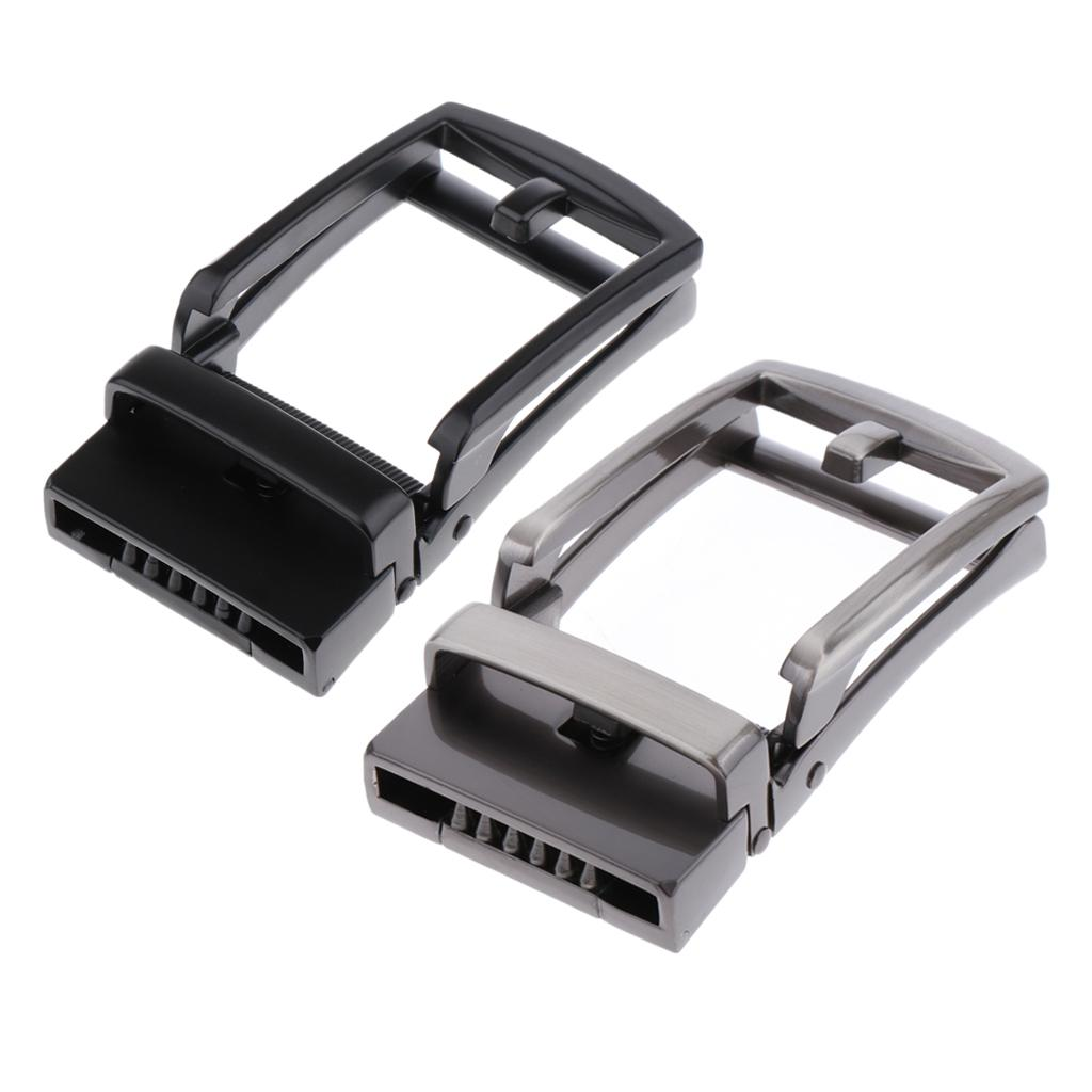 2Pack Fashion Belt Buckle Only Automatic Slide Buckle 35mm Leather Waistband