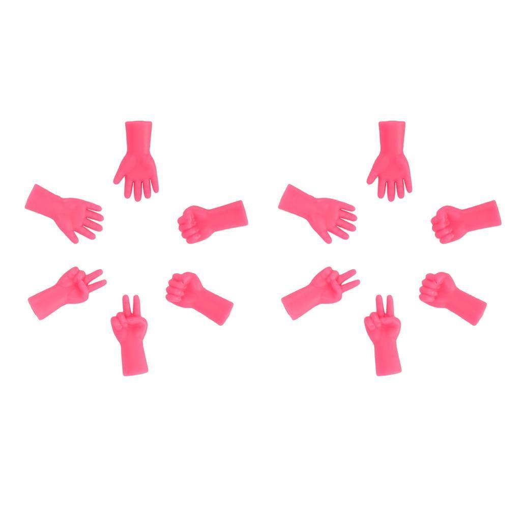 12pz Ferri Da Maglia In Gomma Protezioni Per Punti Rock-Scissor-Paper Rose