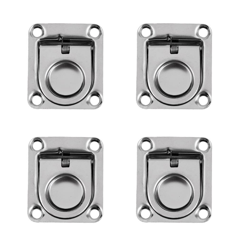 4-Boat-Hatch-Locker-Cabinet-Lift-Pull-Ring-Handle-2-1-4-034-x2-5-8-034-Stainless-steel thumbnail 3