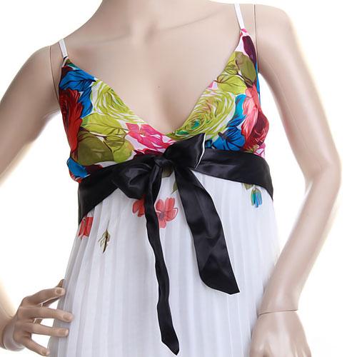 Lady Bohemian Boho Long Maxi Pleated Chiffon Sun Dress