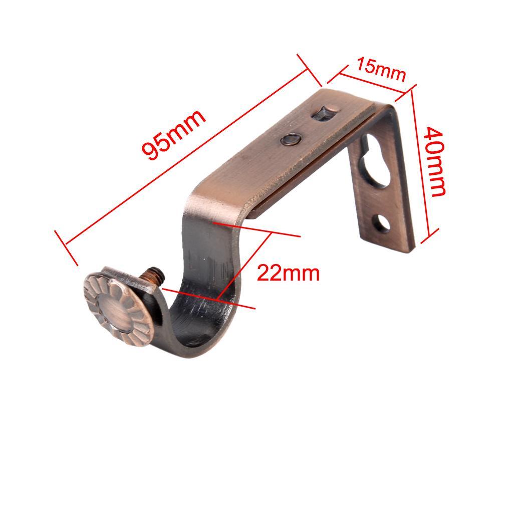 2pcs kupfer tr ger aufleger f r gardinenstange 22 mm vorhangstange ebay. Black Bedroom Furniture Sets. Home Design Ideas