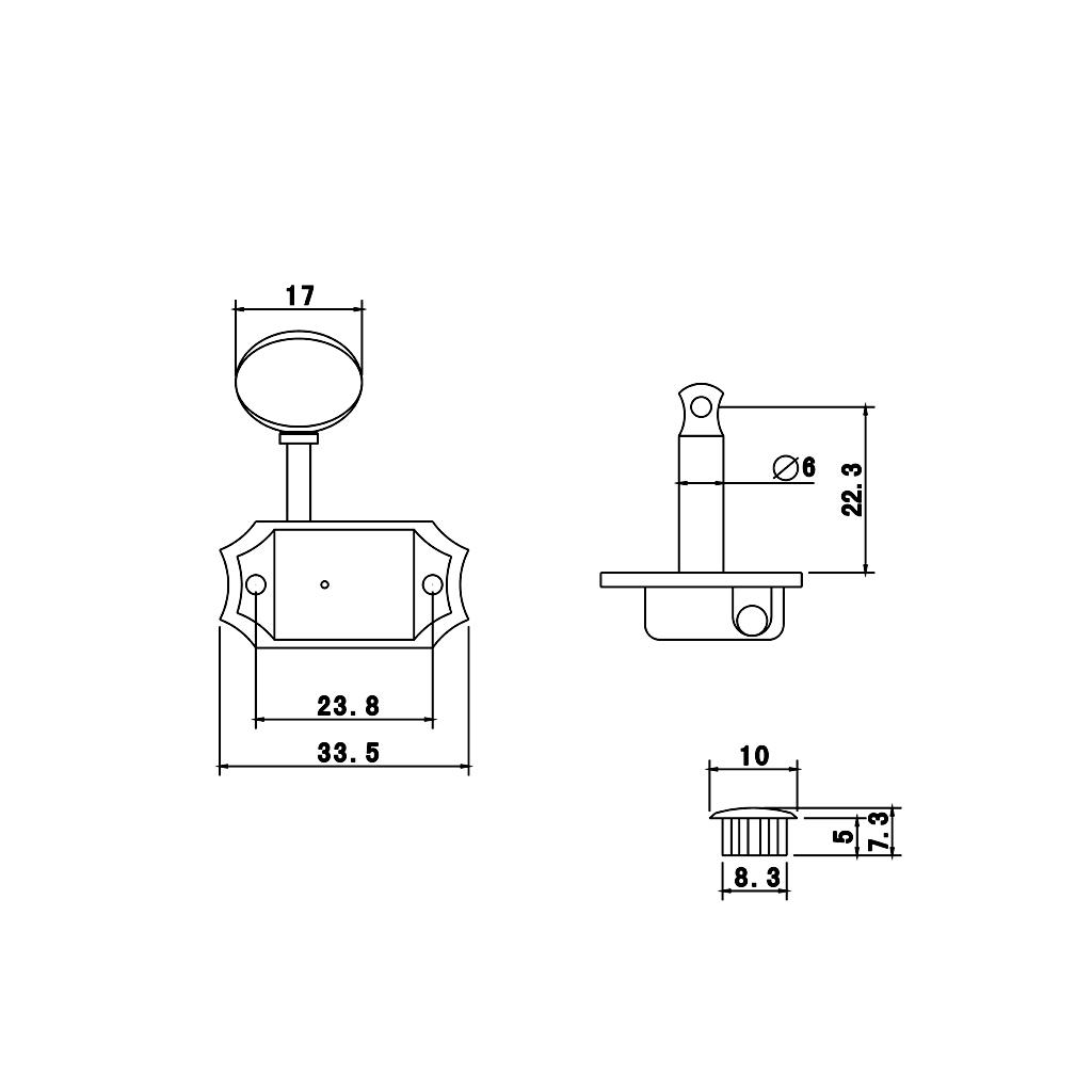 6 sliver acoustic guitar machine heads knobs tuners string tuning peg 3l 3r ebay. Black Bedroom Furniture Sets. Home Design Ideas