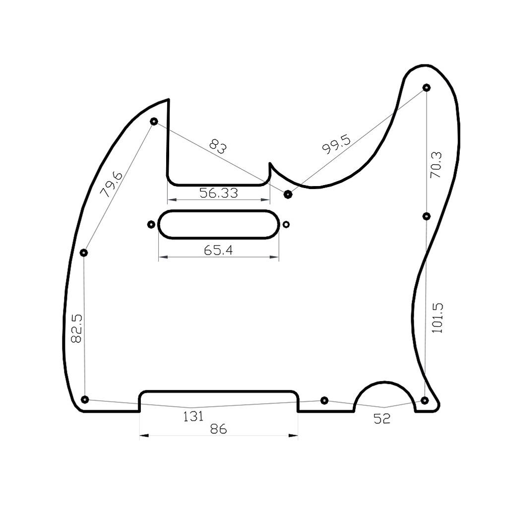 RED Pearl Pickguard SCRATCHPLATE 3 Ply FOR Fender Telecaster Tele ...